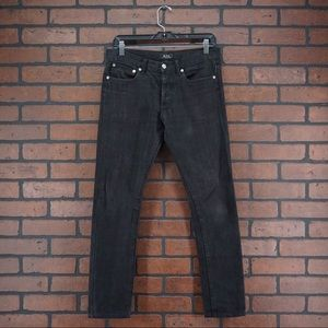 A.P.C. Rue Madame Paris Button Fly Straight Jeans